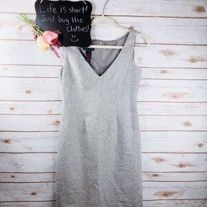 Ralph Ralph Lauren gray wool blend fitted dress